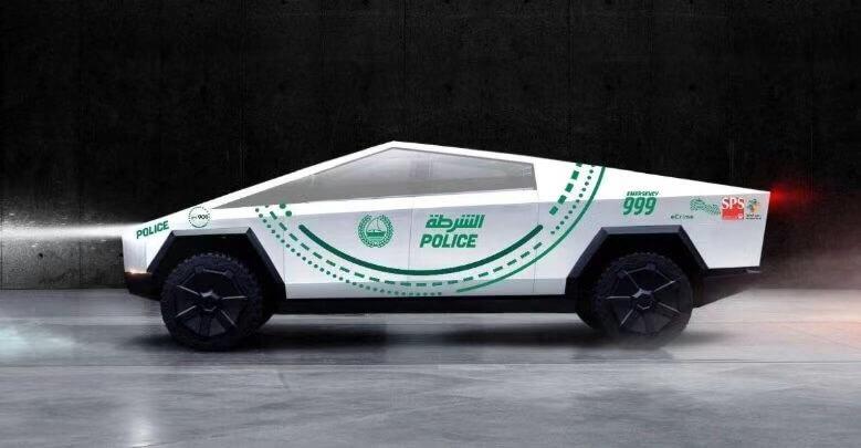 特斯拉的赛博卡车即将加入迪拜的警车队伍