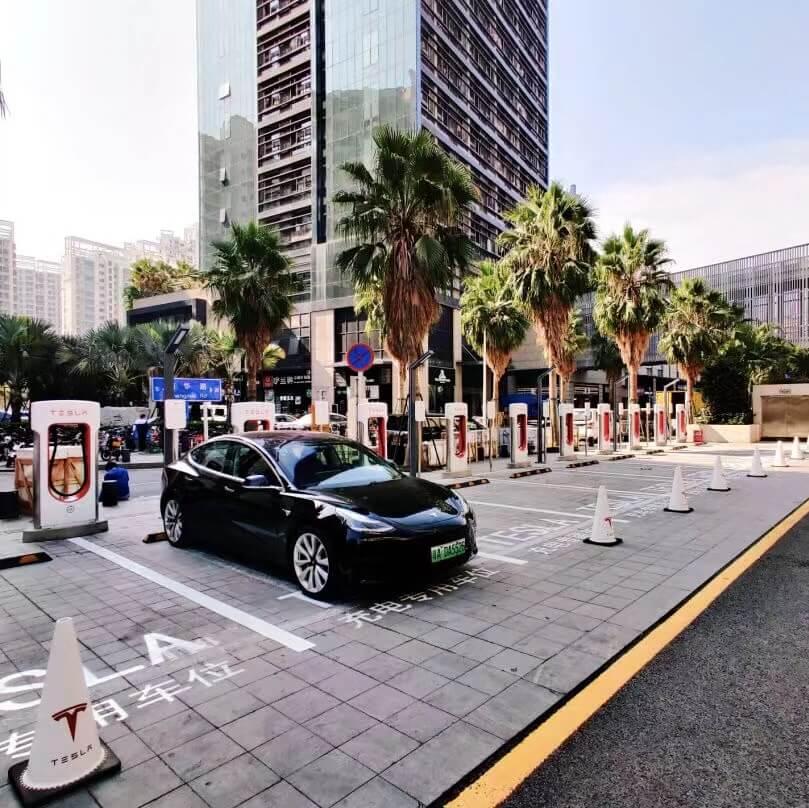 Tesla 在中国大陆第300座超级充电站正式落成