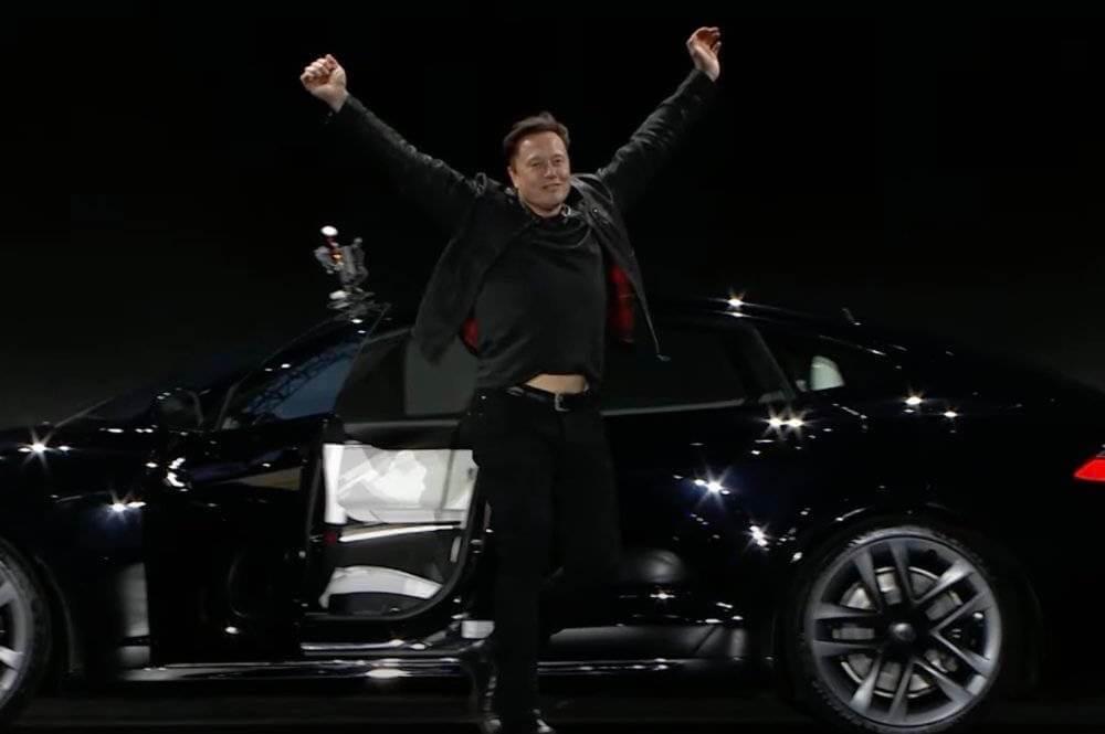 马斯克说美国交付的特斯拉Model S Plaid是世界上最好的车